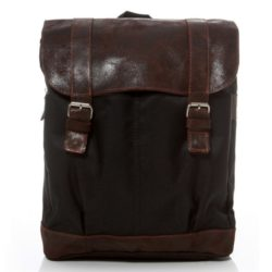 Brown leather vintage backpack
