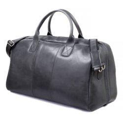 GERONE Graphite men's leather bag