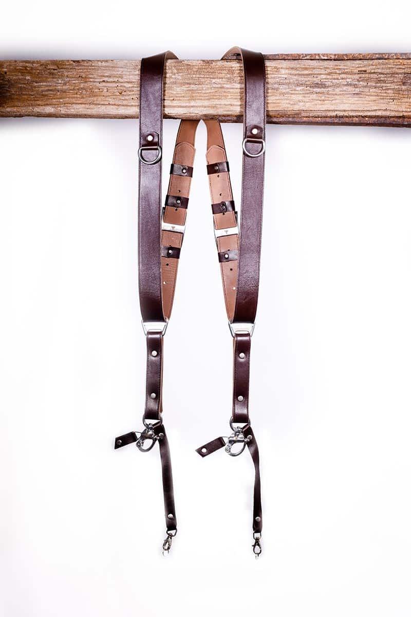 Garioch leather strap dark brown