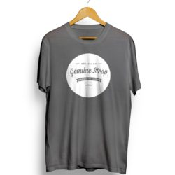 grey t shirt genuine strap dot