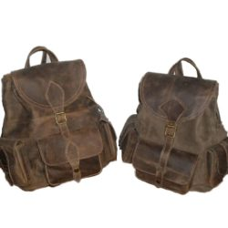 brown leather-backpack-vintage