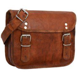 Leather Shoulder Bag Brown Jane