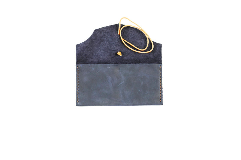 purple suede Leather Tobacco Pouch