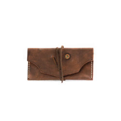 brown vintage Leather Tobacco Pouch