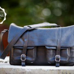 Black messenger dSLR bag | TUSCANS
