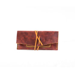 Red Cherry Leather Tobacco Pouch