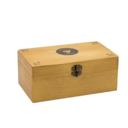 wood box genuine for leather, cigars, jewelry
