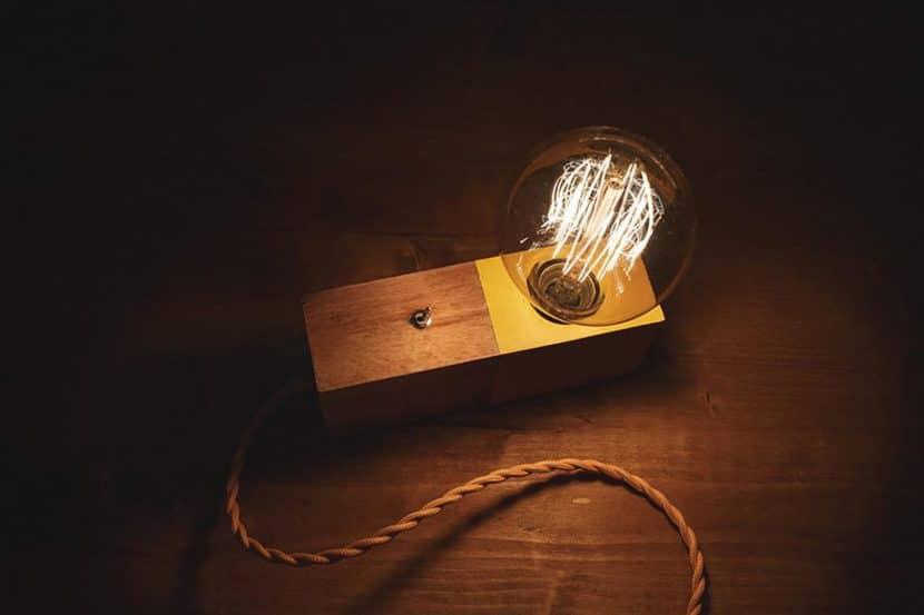 Edison Table Lamp Wood Desk Lamp