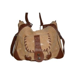 Leather Handbag Brown reptile model