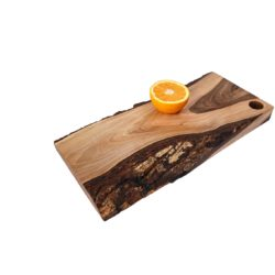 Walnut Wood Cutting Board with Bark Irregular Shape