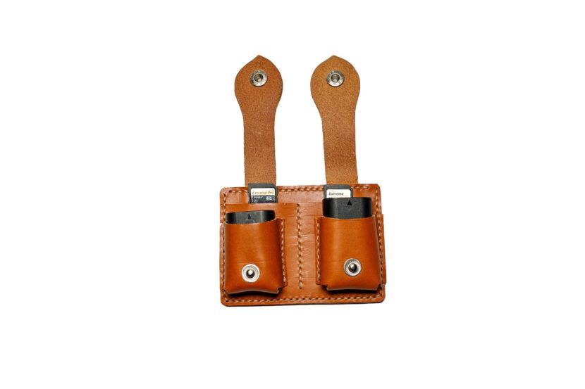 leather battery and card holder made in italy