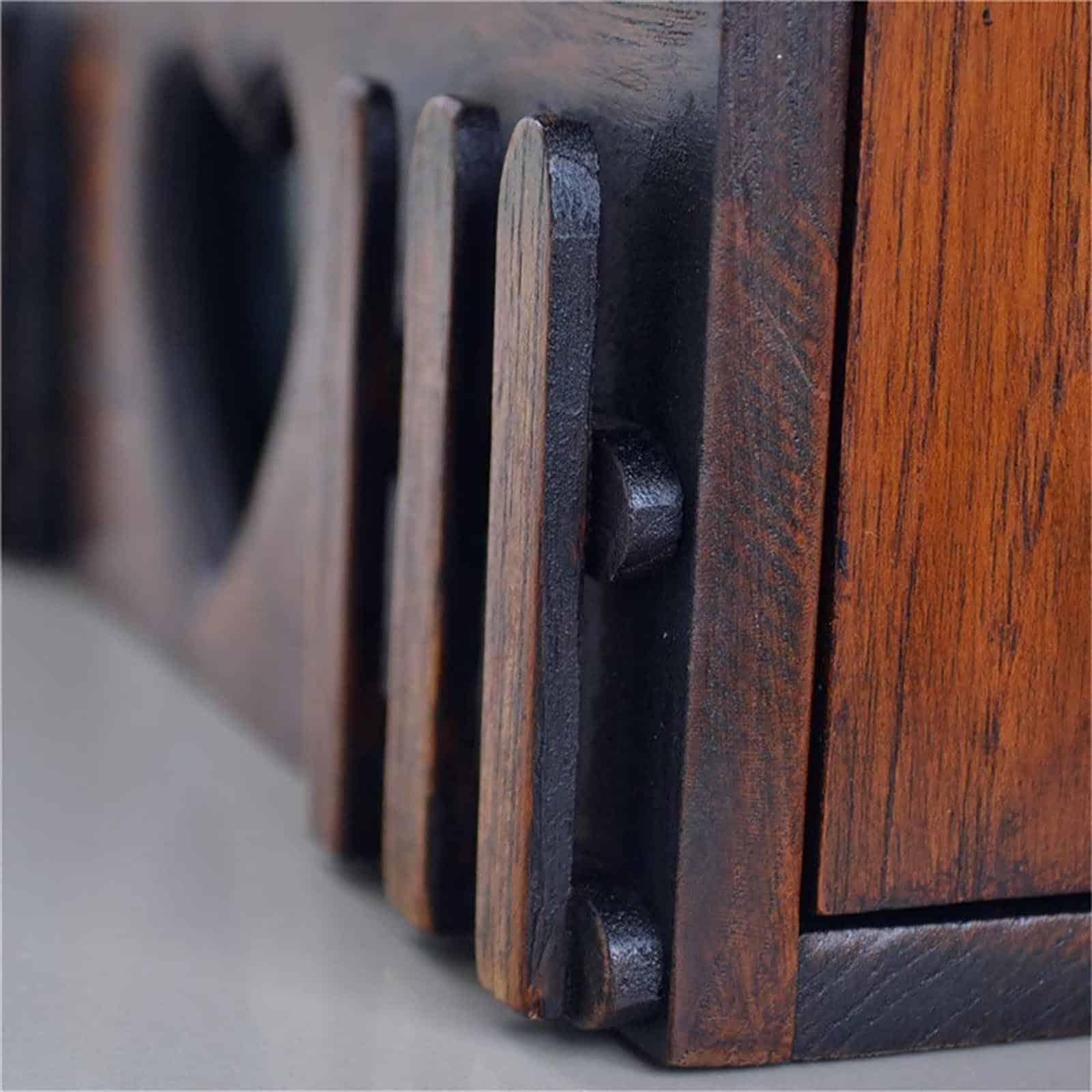 Rustic Villa Wood Mailbox Genuine Strap