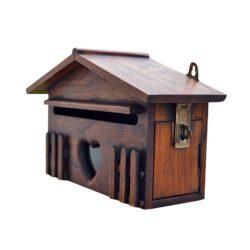 Rustic Villa Wood Mailbox