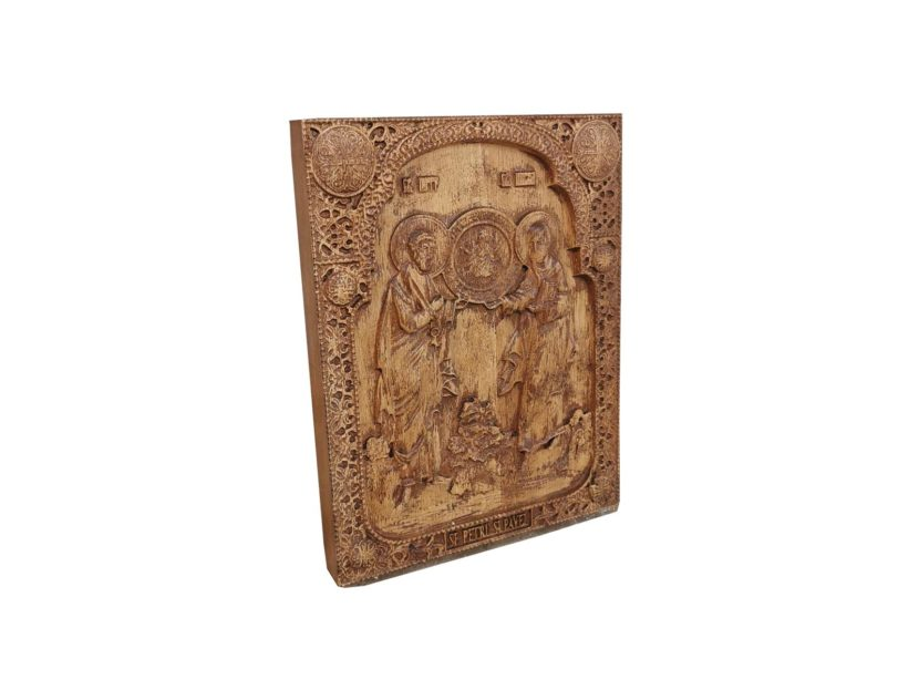 Holy Apostles Peter and Paul wood carved icon