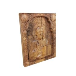 Jesus Christ wood carved icon