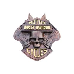 hrley davidson panoply wood carved
