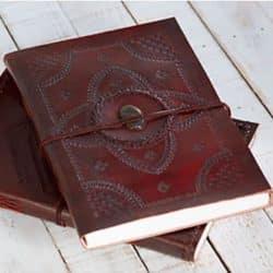 Leather Bound Journal - Brown Gemstone (3)