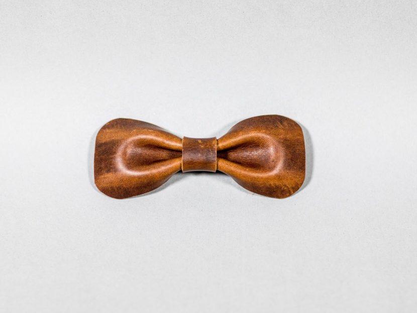 vintage Bow tie leather