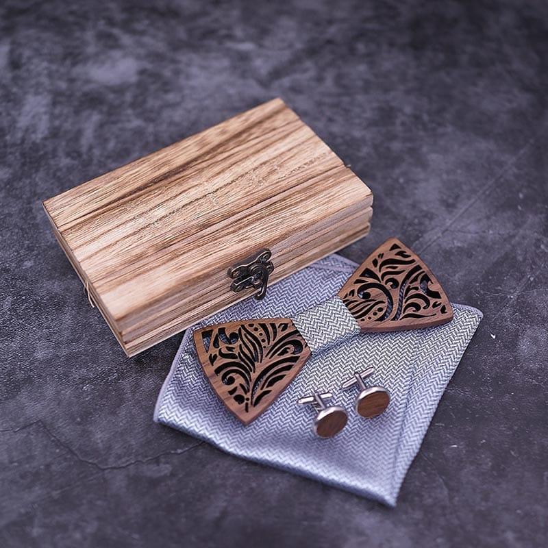 Bow tie Gentleman Wood Papillon
