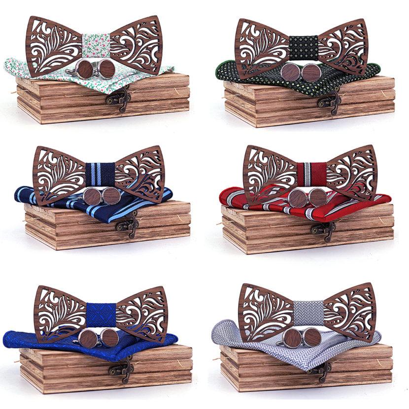 Bow tie Gentleman Wood Papillon multicolor