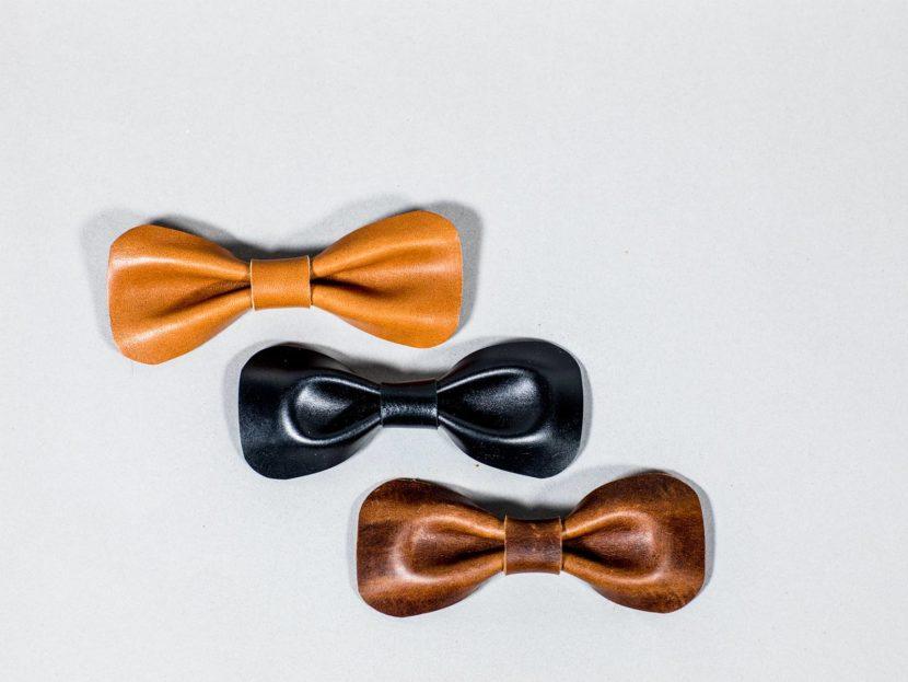 multicolour Bow tie leather