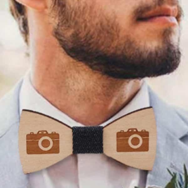 Wood Bow Tie Photographer