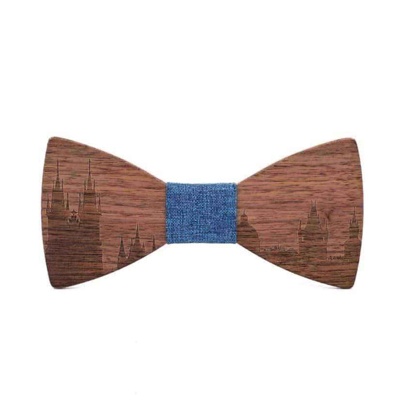 Wood Bow Tie Skyline