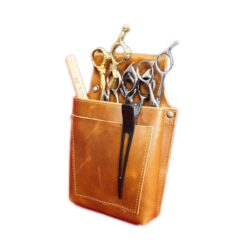 LEATHER BARBER POUCH BROWN PORDUCT