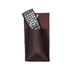 Leather wall pocket remote control